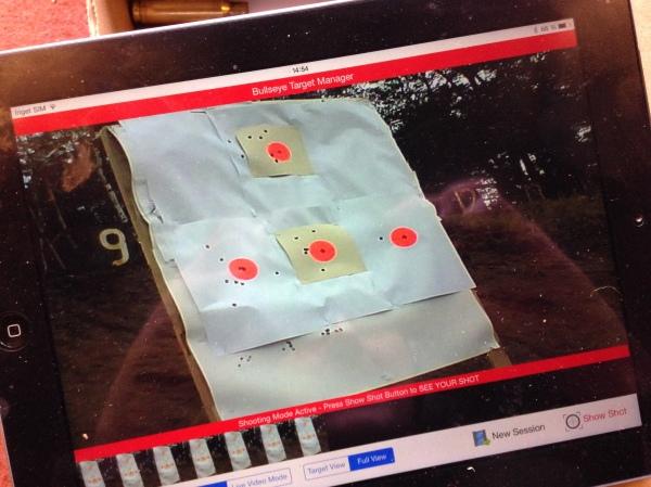 Bullseye target system på iPad