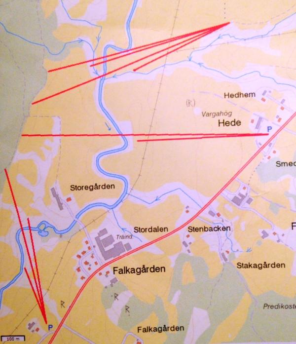 Översiktsbild över de tre stationerna.